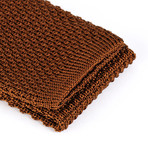 Tricot Knitted Tie // Brown Oak