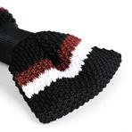 Silk Bow Tie // Black + Brown + White