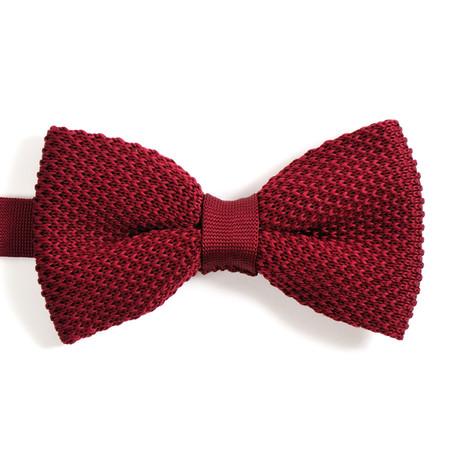 Silk Bow Tie // Dark Red