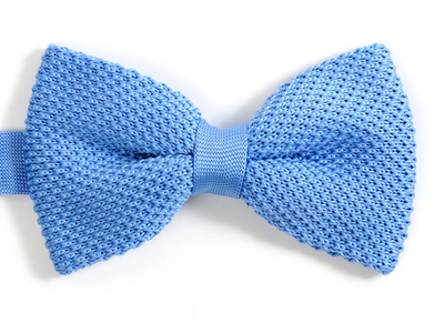Photo of Fabliot by Le Chic Français Silk, Wood, & Feather Ties Silk Bow Tie // Light Blue by Touch Of Modern
