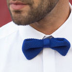 Silk Bow Tie // Elephant Blue