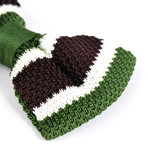 Silk Bow Tie // Green + Stripes