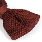 Silk Bow Tie // Brown