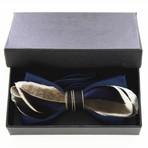 Mallard Feather Bow Tie // Blue + Brown