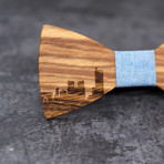 Paris Wood Bow Tie // Sky Blue