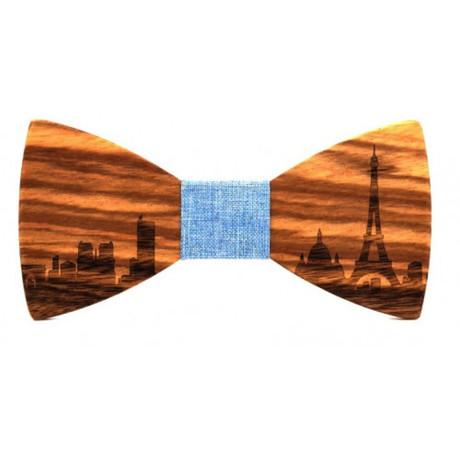 Paris Wood Bow Tie // Sky Blue