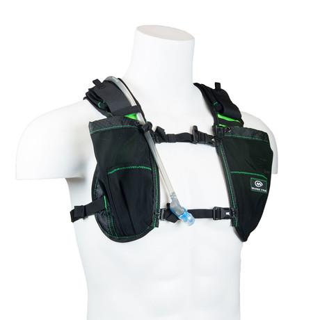 Gear Vest // 1L Bladder + 2L Total Cargo (Black + Orange)