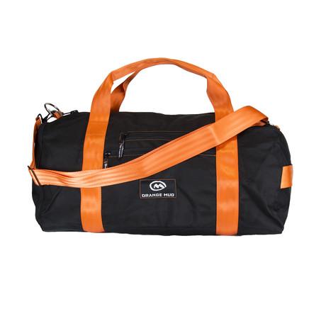 Gym Bag + Shoe Compartment (Black + Orange)