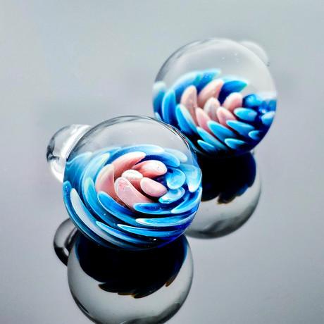 3D Flower Globe Bracelet // Red