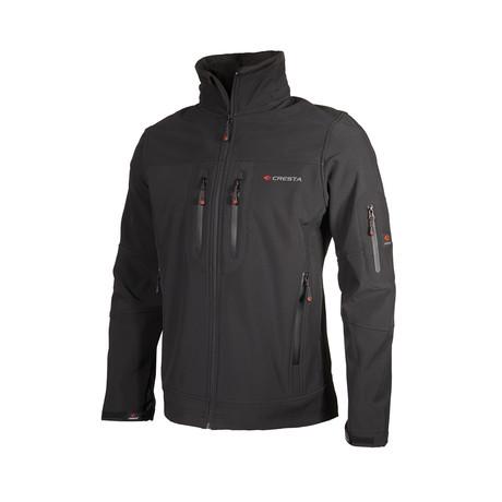 Double Chest Zipper Jacket // Black (S)