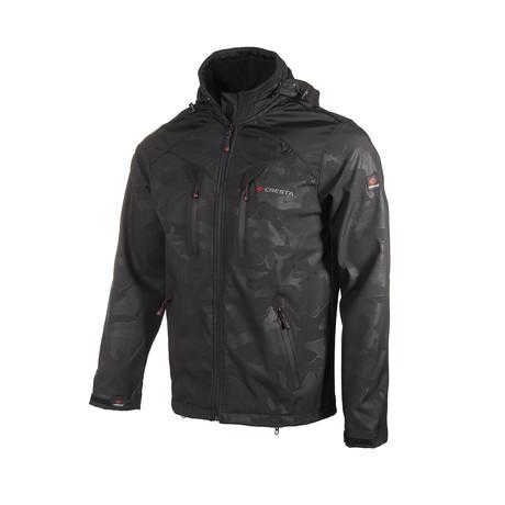 Camo Double Chest Zipper Jacket // Black (S)