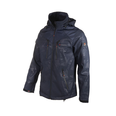 Camo Double Chest Zipper Jacket // Dark Blue (S)