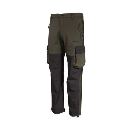 Two-Tone Cargo Pants // Olive + Black (S)