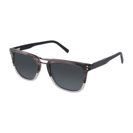 Simeon Square Polarized Sunglasses // Gray Fade