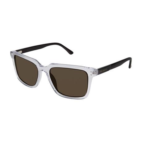 Demetrius Square Polarized Sunglasses // Crystal