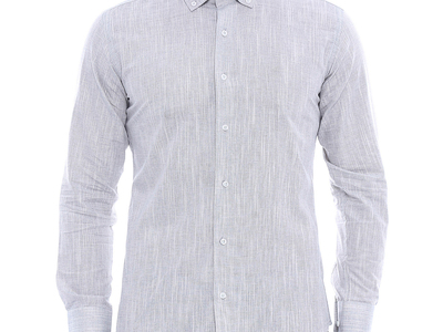 Photo of Wessi Stylish Button-Ups Simon Slim-Fit Shirt // Gray (S) by Touch Of Modern