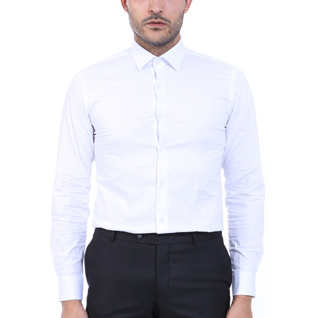 Rogelio Slim-Fit Shirt // White (S)