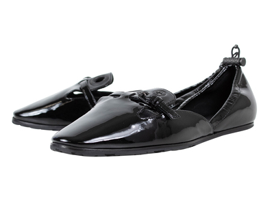 Photo of The Designer Shoe Collection Valentino, Ferragamo + More Bottega Veneta // Patent Leather Loafer Flats // Black (Euro: 38) by Touch Of Modern