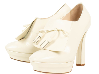 Photo of The Designer Shoe Collection Valentino, Ferragamo + More Bottega Veneta // Leather Flap Front + Bow Heels // White (Euro: 35.5) by Touch Of Modern