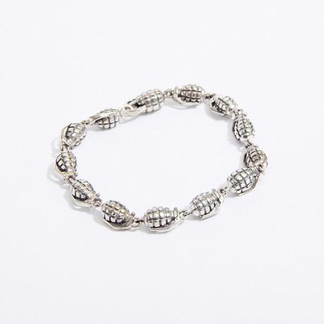 "Duck + Cover Bracelet // Silver (7.5"")"
