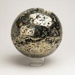 "Polished Pyrite Sphere // Peru (4.5"")"