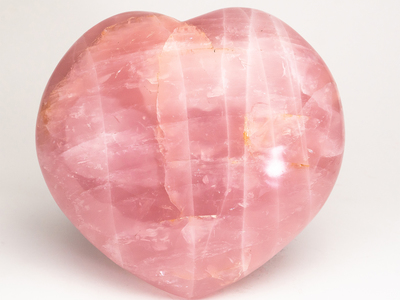 Photo of Astro Gallery Rare Crystal + Meteorite Displays Large Polished Rose Quartz Heart // Brazil by Touch Of Modern
