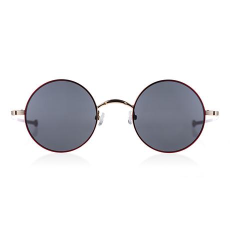 Circular II Sunglasses // Rose // Gold + Red