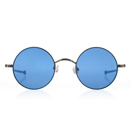 Circular II Sunglasses // Whale // Gold + Blue