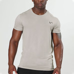 Root Crew Neck Shirt // Silver Grey (M)