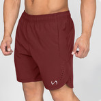 Element Shorts // Maroon (S)