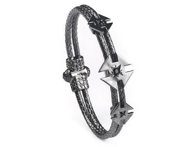 Photo of Onyx Designer Men's Bracelets & Cuffs Ninja Star Bracelet // Gunmetal Plated (S) by Touch Of Modern
