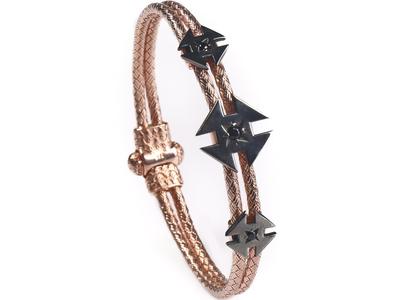 Photo of Onyx Designer Men's Bracelets & Cuffs Ninja Star Bracelet // 18K Rose Gold Plated (S) by Touch Of Modern