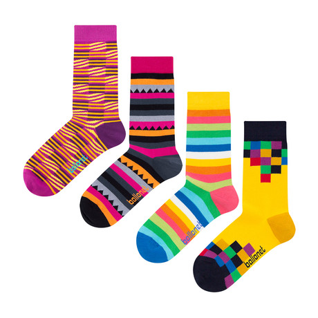 Geo Socks // 4 Pack (US: 6-9)