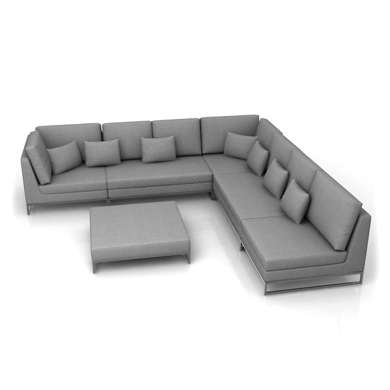 Astonishing 6 Pc Modular Sectional W Ottoman Laguna Charcoal Modern Machost Co Dining Chair Design Ideas Machostcouk