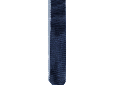 Photo of Hook & Albert Sartorial Suiting Accessories Solid Silk Knit Tie // Navy by Touch Of Modern