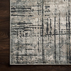 "Cascade Rug // Marine + Gray (2' 7.2"" x 4')"