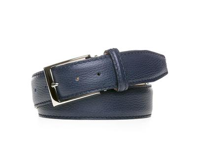 Photo of Roger Ximenez Made To Order Leather Belts Italian Pebble Grain Belt // Navy + Navy (30) by Touch Of Modern