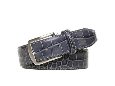 Photo of Roger Ximenez Made To Order Leather Belts Special Edition Mock Gator Leather Belt // Gray (30) by Touch Of Modern