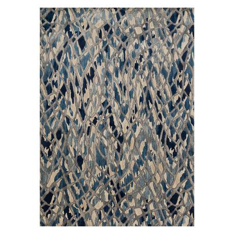 """Dreamscape Rug // Artic Blue + Silver (2' 3.6"""" x 8')"""