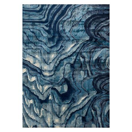 """Dreamscape Rug // Indigo + Blue (1' 10.8"""" x 3')"""