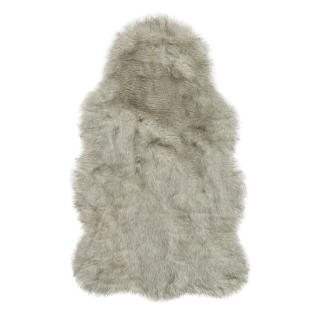 Yukon Shag Rug // Silver + Gray (2' x 3')