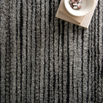 "Emory Rug // Gray + Black // 9.2"" x 12.6"""