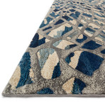 "Dreamscape Rug // Artic Blue + Silver // 9' 2.4"" x 13'"
