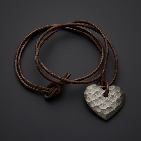 Damascus Heart Pendant // 1991
