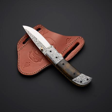 Handmade D2 Liner Lock Folding Knife // 2741
