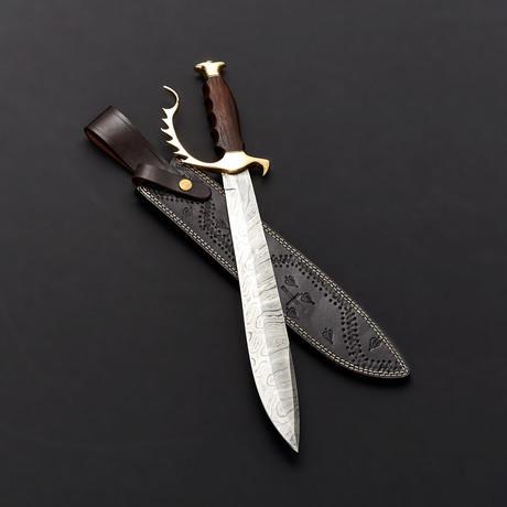 Damascus Bowie Knife // BK0263