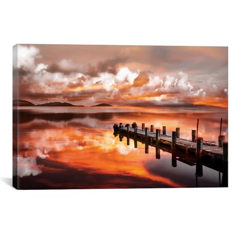 """Sunset Pier // Marco Carmassi (26""""W x 18""""H x 0.75""""D)"""