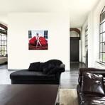"Red Sofa // Sasha Robinson (18""W x 18""H x 0.75""D)"