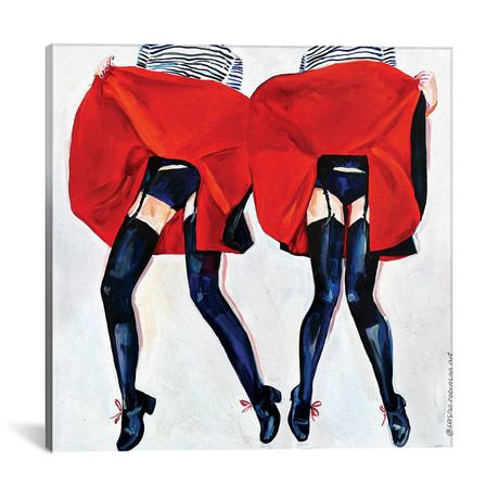 """Two Is Better // Sasha Robinson (18""""W x 18""""H x 0.75""""D)"""