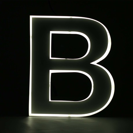 "Quizzy Neon Style Letter ""B"""